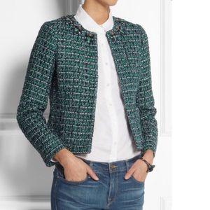 J. Crew Collection Jeweled Collar Tweed Blazer